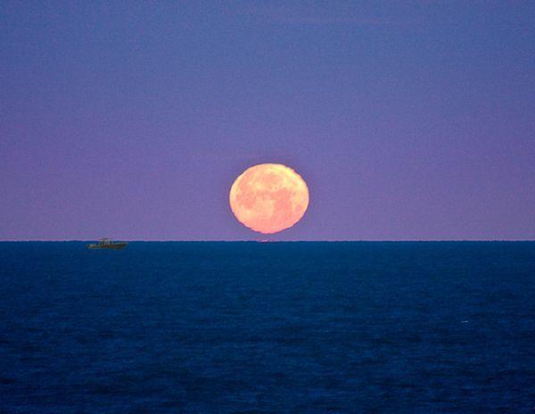 Treasure Island Moon at Dawn