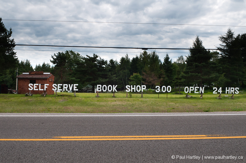 self serve book shop rural ontario