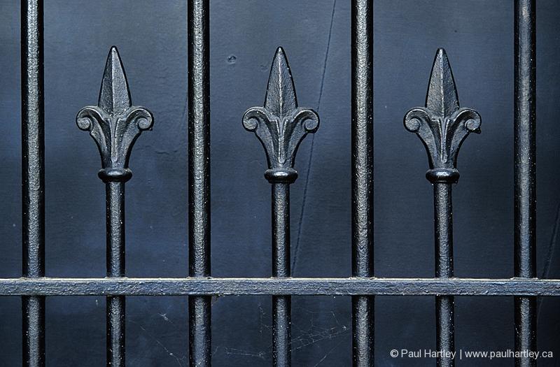 wrought iron fence black fleur de lys