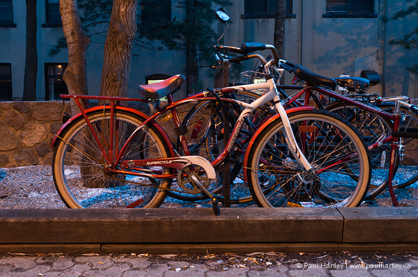 red and white bicycle vintage style