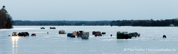 ice fishing cars and trucks on the ice ontario