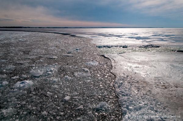 lake ontario winter scene