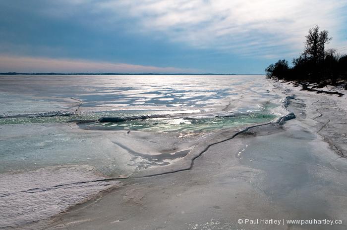 ice on lake ontario near kingston