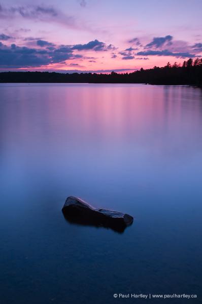 rock in water eels lake ontario