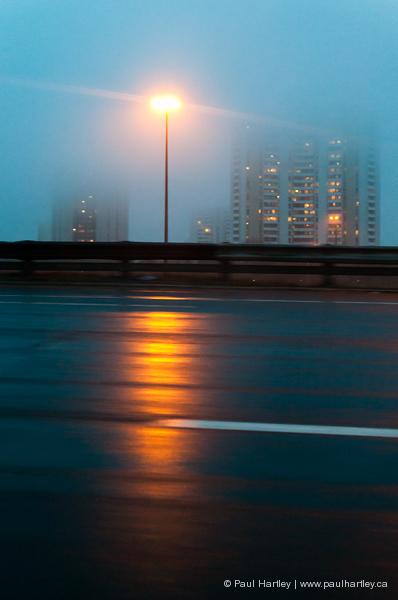 highway at night toronto