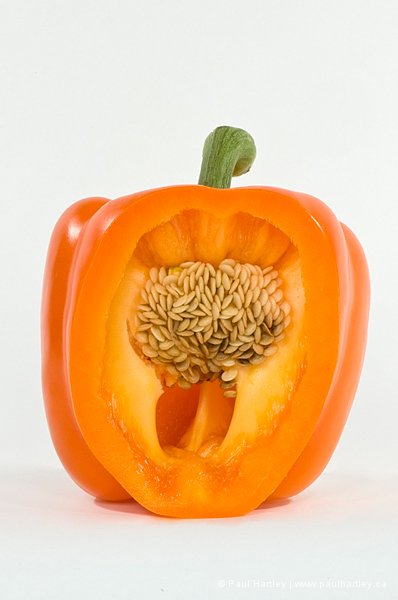 cut orange pepper