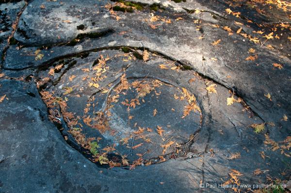 eye shaped rock