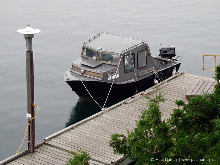 docked boat tobermory ontario