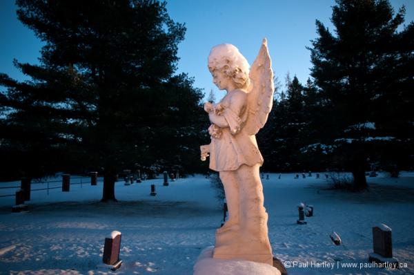 angel over graveyard