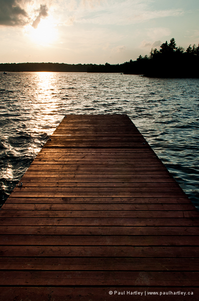 dock in warm summer light