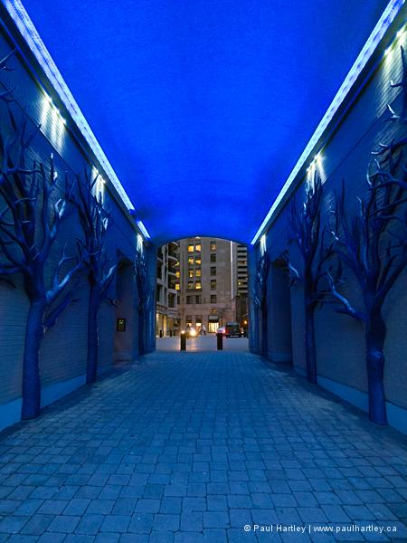 blue tunnel