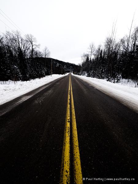 Highway in ontario in winter