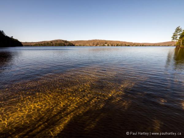 ripples and shadows on diamond lake