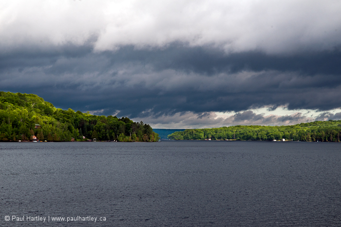Stormy clouds over babtiste lake