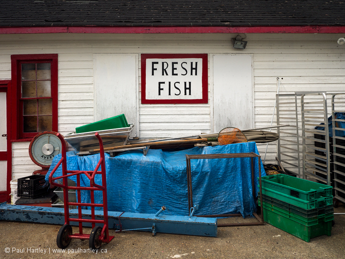 Back of a chip stand on the Harbour side Killarney
