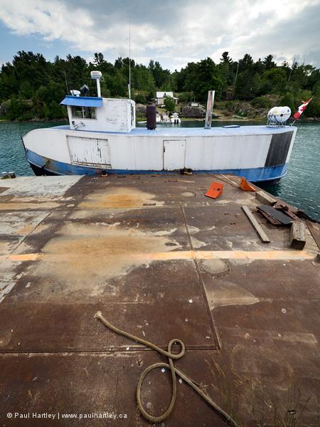Boat at Killarney Ontario