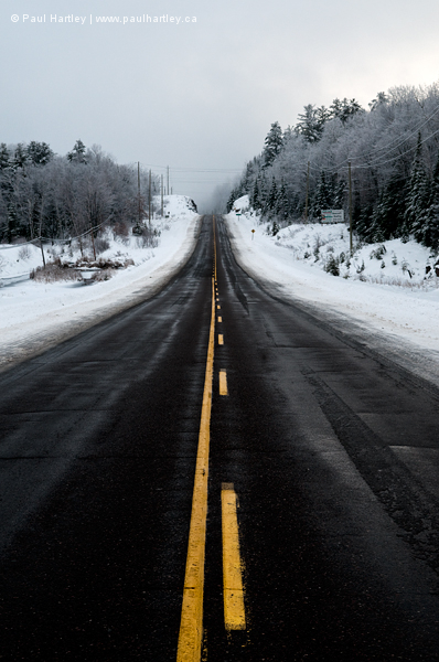 Highway in winter