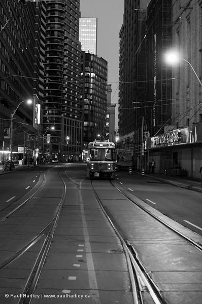 Streetcar on a Toronto street