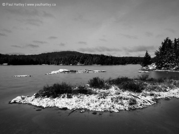 Black and White Centre Lake