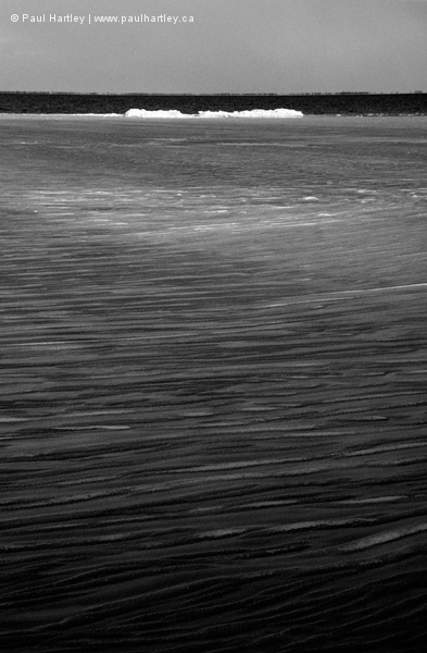 Ice design in black and white lake ontario