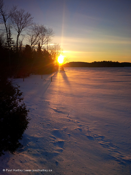 Sunset at Paudash Lake