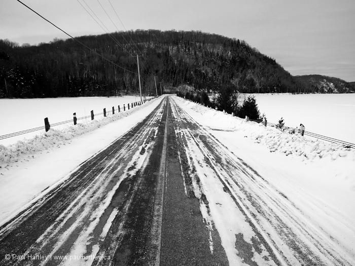Winter road ontario