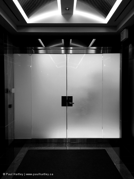 smoked glass doors