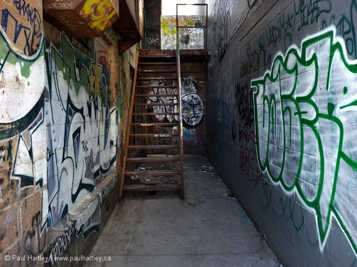 Stairs in an alley