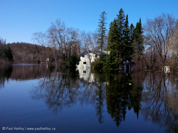 Flooded area Bancroft Ontario