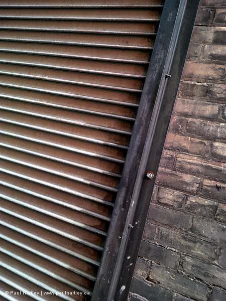 metal in a toronto alley