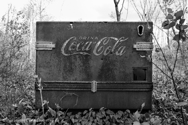 abandoned coca cola cooler