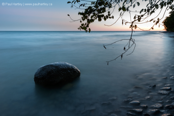 Rock on the shore of Lake Ontario