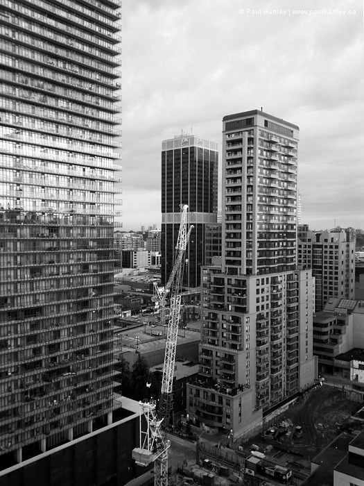 Buildings and a Crane in Toronto