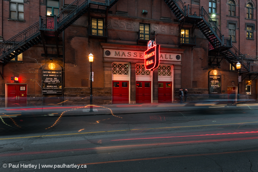 Massey Hall at night