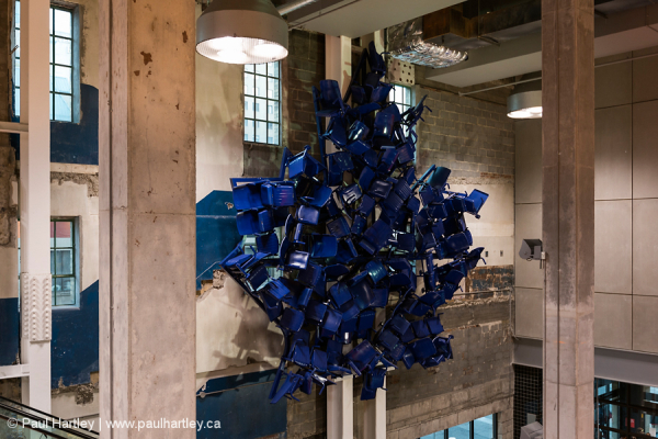 Maple Leaf formed by chairs Maple Leaf Gardens