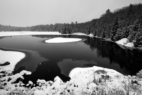 Ice and Snow on a Lake