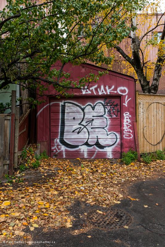 Graffiti on a Garage in Toronto