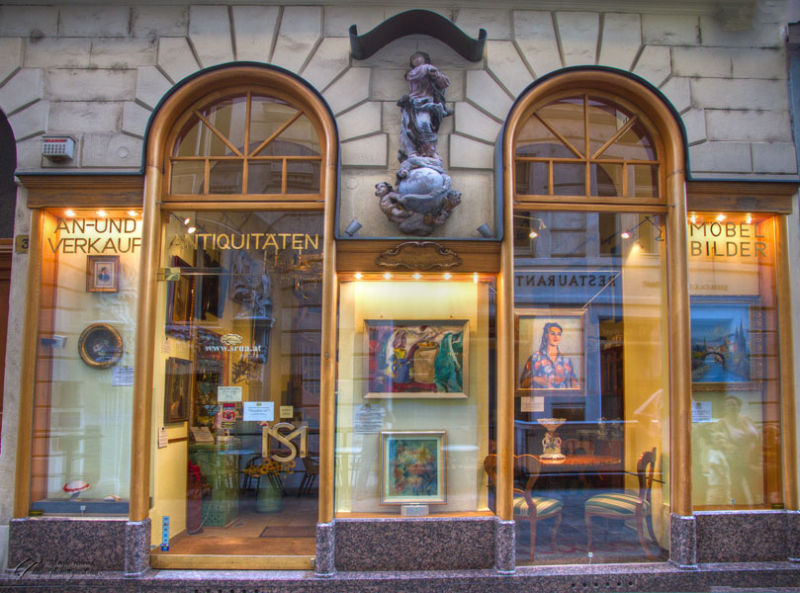 A gallery in Vienna Austria