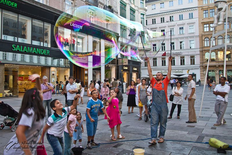 Bubble, Wien, Vienna, Austria, Graben, Platz, Daya