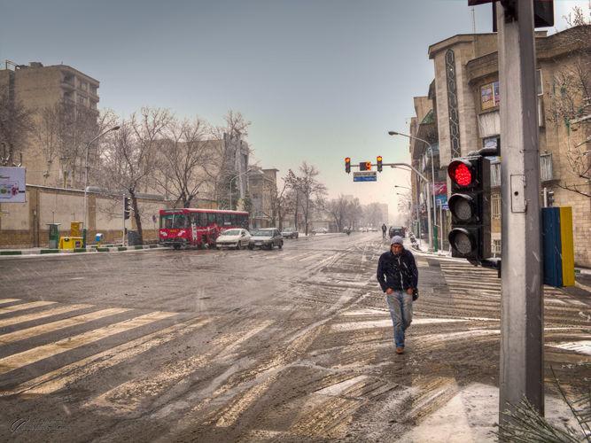 Snowy, morning, Niavaran St. Mohsen, Dayani,