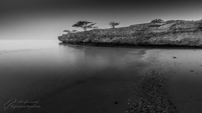 Kish rocky beach.