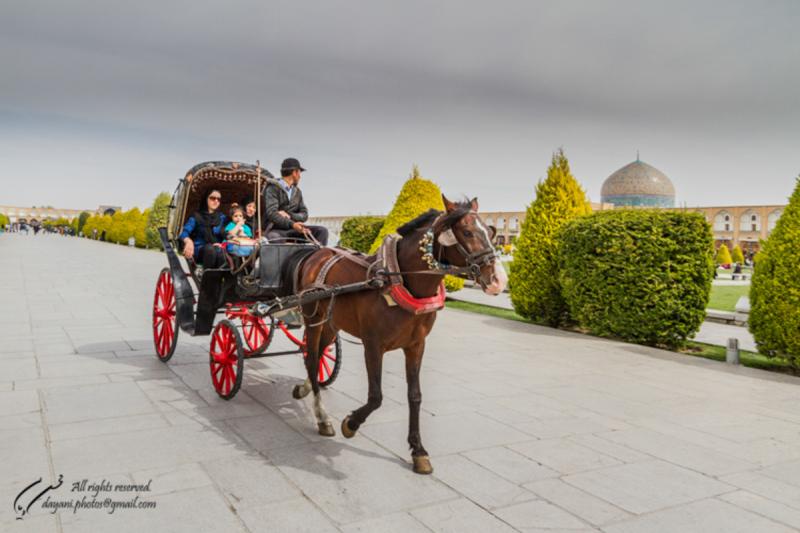 Carriage at Naghshe jahan Sq.
