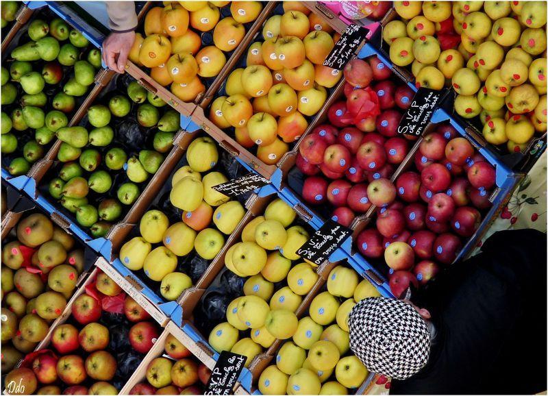 Pommes de reinette et pommes d'api