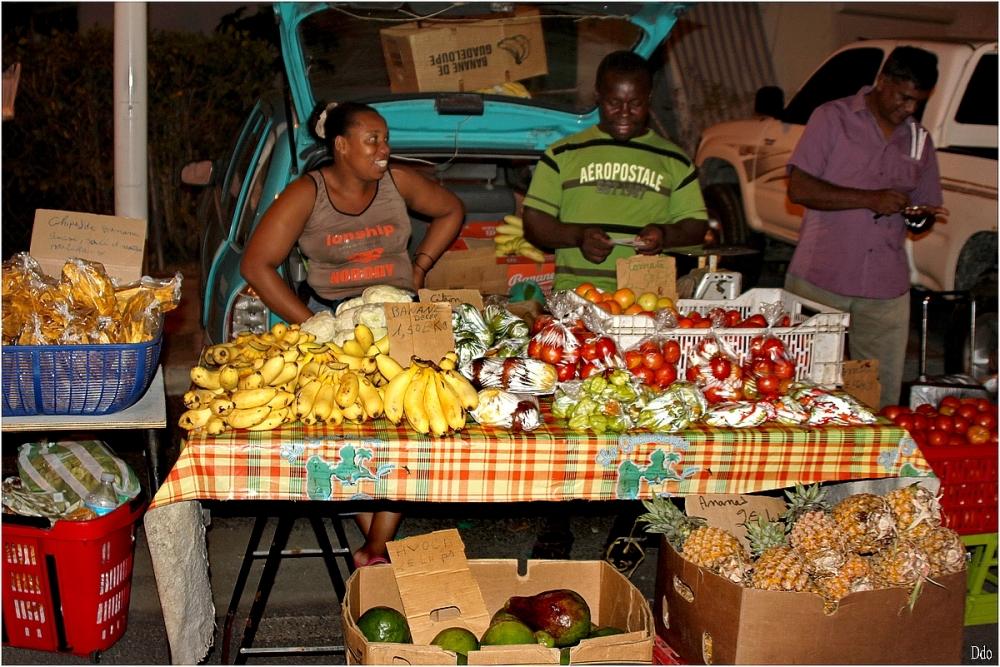 Au marché de Saint François