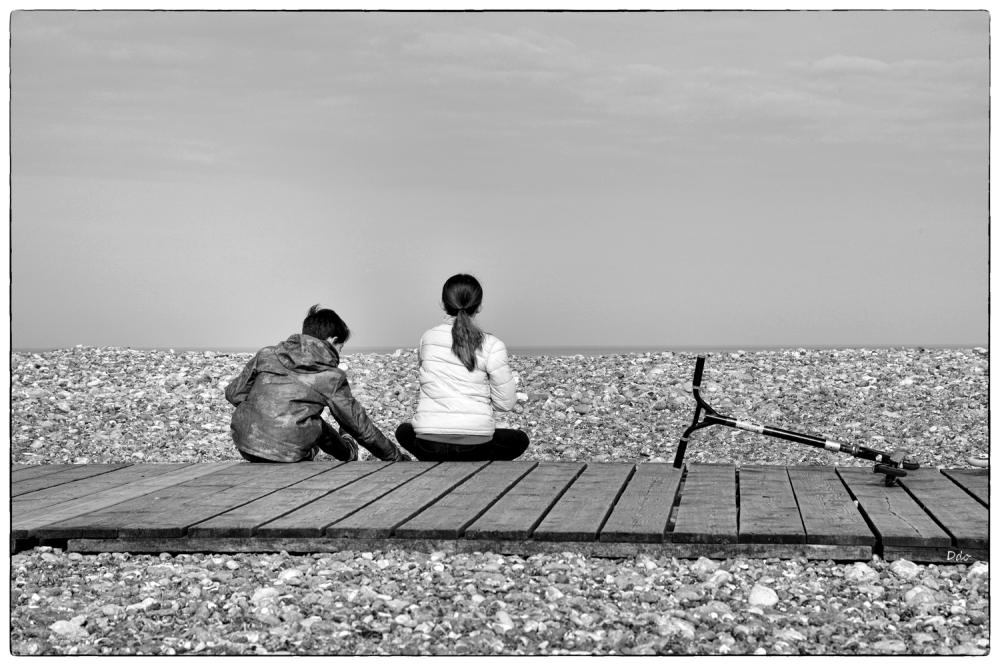 Rester des heures à regarder la mer...