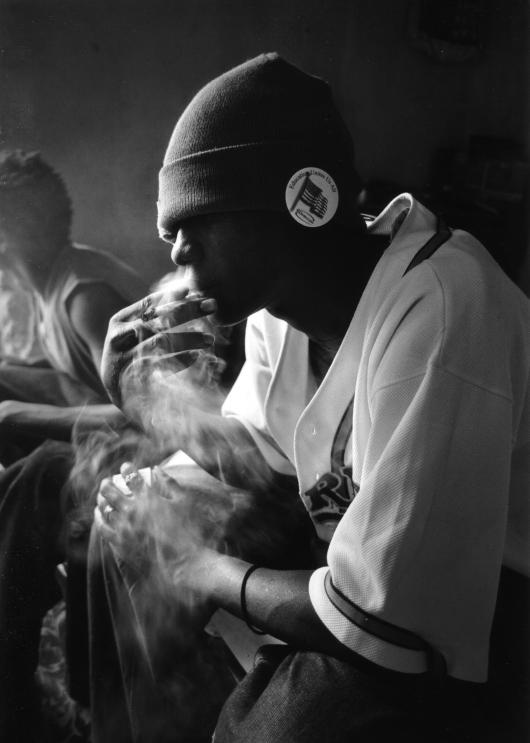 Abrahim smokes