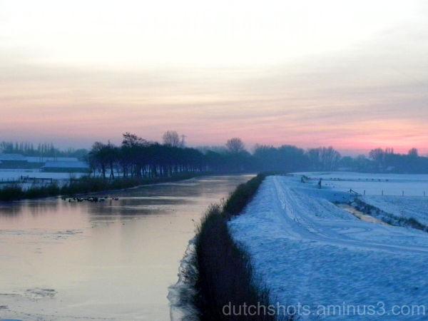 Sunset in Nieuwe Niedorp