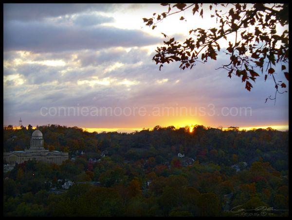 Sunset from Frankfort Cemetery