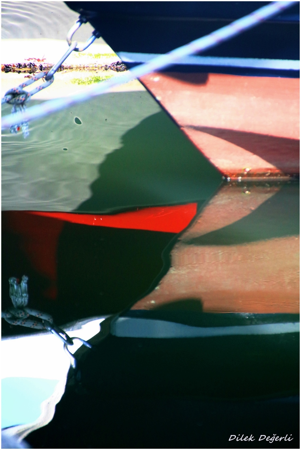 reflections of boats