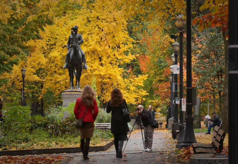 Portland Oregon Fall 2008 Downtown Girls Photograp